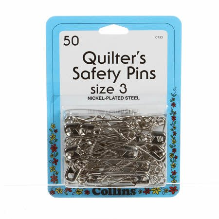 Quilting Safety Pin 2in Size 3 50ct