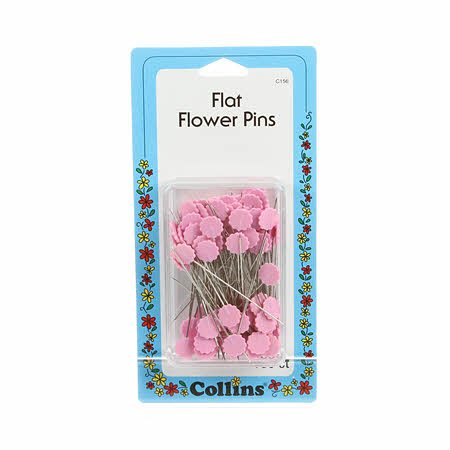 Flower Head Pin Size 30 - 1 7/8in 100ct Pink