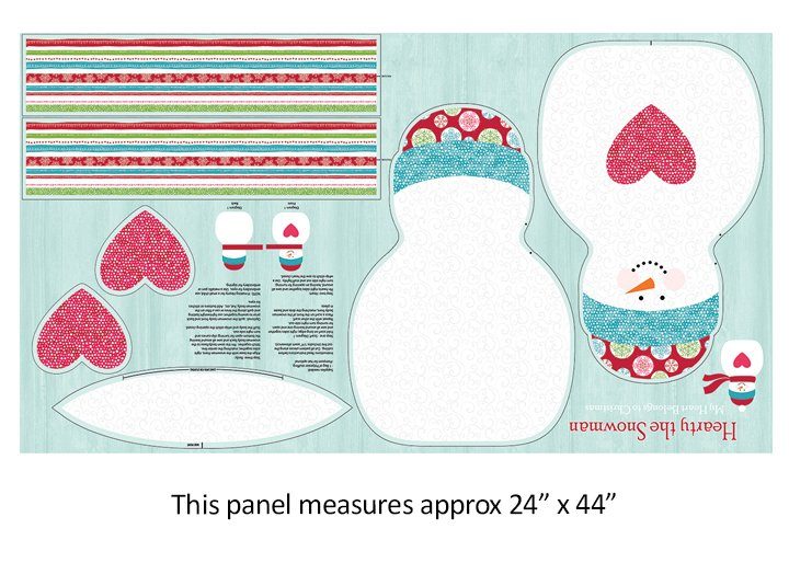 Hearty The Snowman Panel - 17570-99