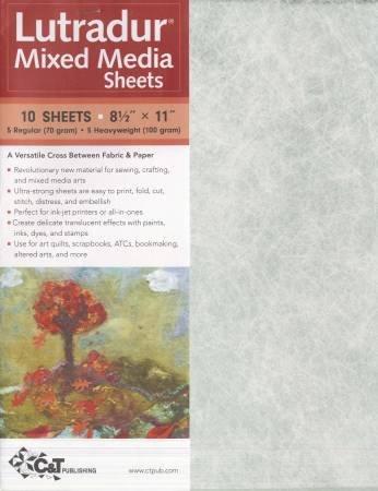 Lutradur Mixed Media Sheets 8.5 x 11