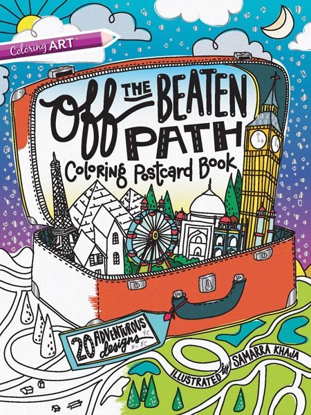 Off the Beaten Path Coloring Postcard Book - Softcover