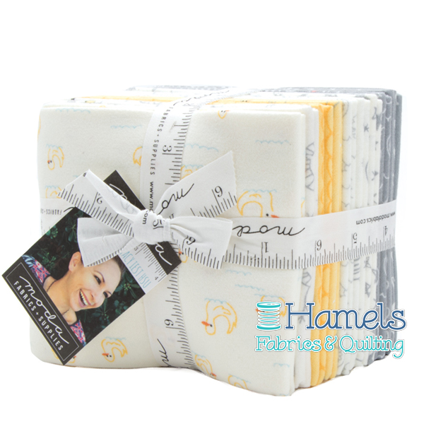 Soft and Sweet Flannel Grey/Yellow Fat Quarter Bundle