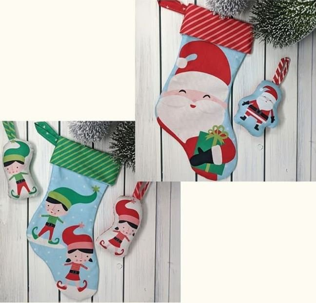 Cut Sew Create - Christmas Stocking Ornaments Panel