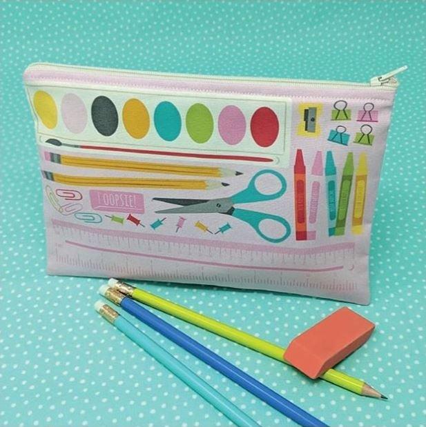 Cut Sew Create - School Supply Zipper Pouch Panel