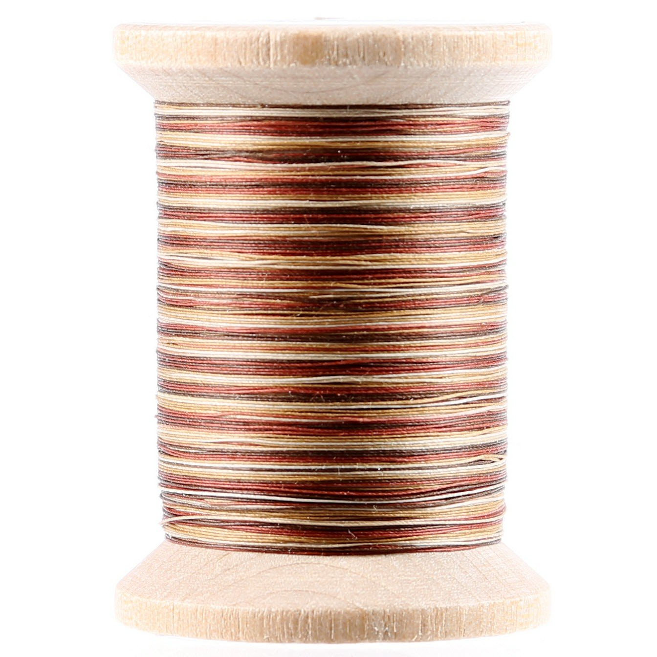 Variegated Cotton Hand Quilting Thread 400yds Cream and Brown