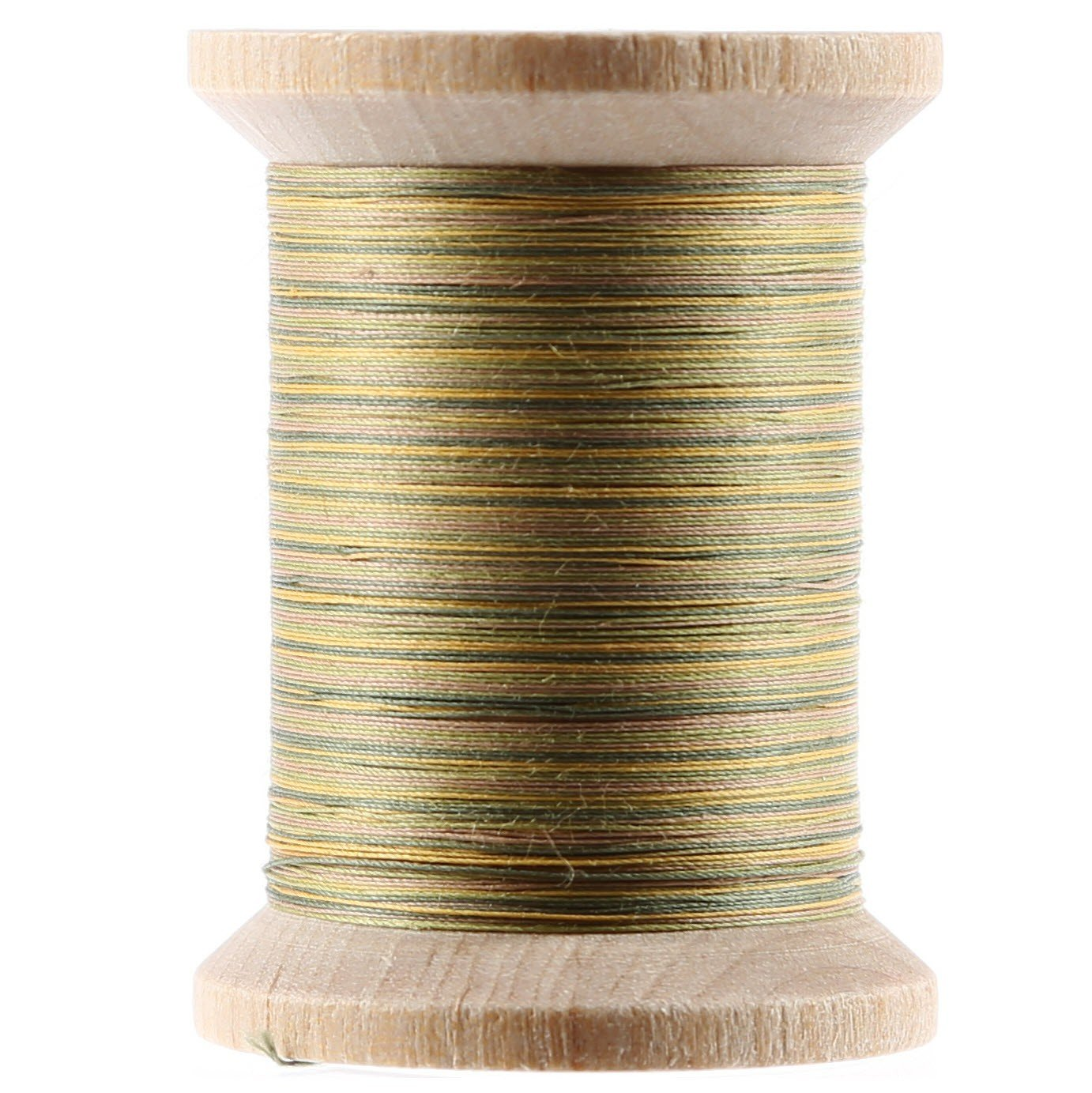 Variegated Cotton Hand Quilting Thread 400yds Green and Tan