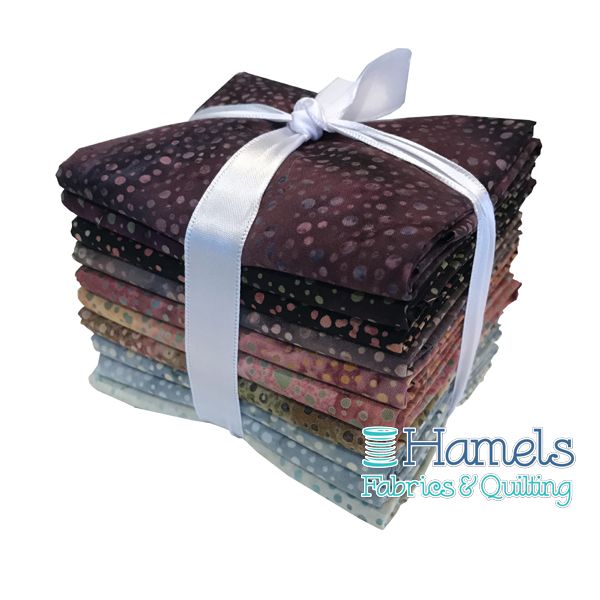 Dot Batiks - Plum Pudding Fat Quarter Bundle