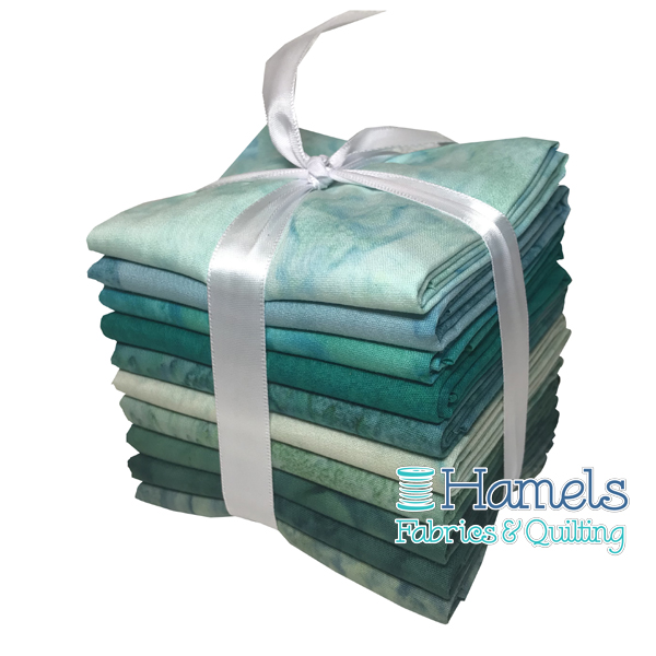 Bali Watercolor - Agean Sea Fat Quarter Bundle