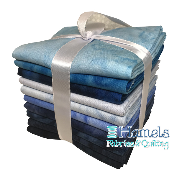 Bali Watercolor - Blue Horizon Fat Quarter Bundle