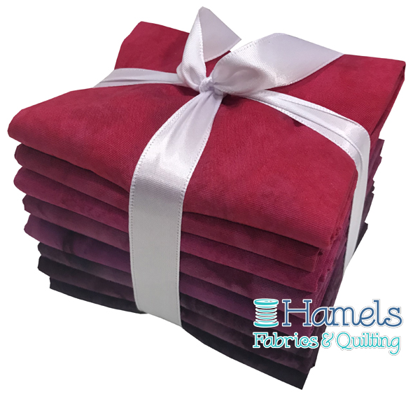 Bali Watercolor - Mauve to Raspberry Fat Quarter Bundle