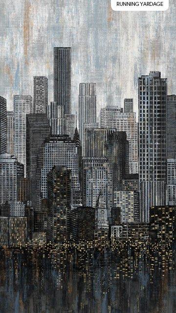 CITY LIGHTS BLACK multi