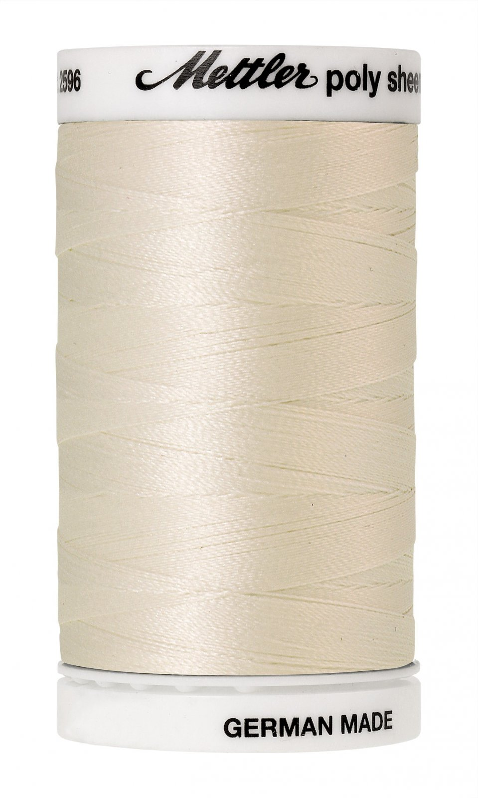 Poly Sheen Polyester Embroidery Thread 40wt 140d 800m/875yds Cream
