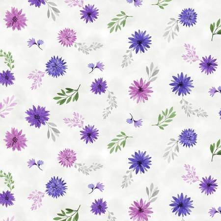 Amethyst Magic - Small Floral - White - 27581-169