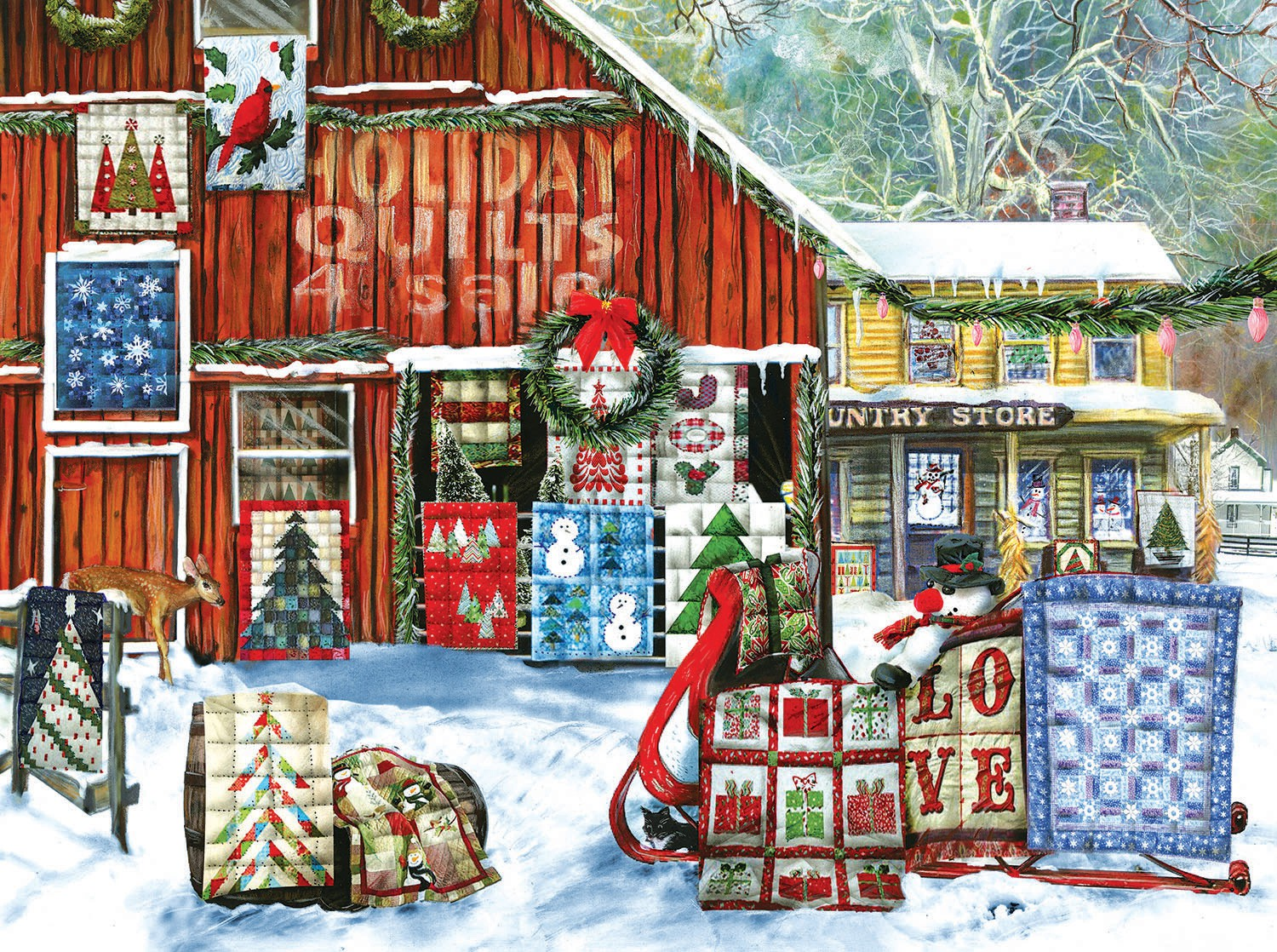 Holiday Quilts Puzzle 1000pc *Now Taking Pre-Orders*