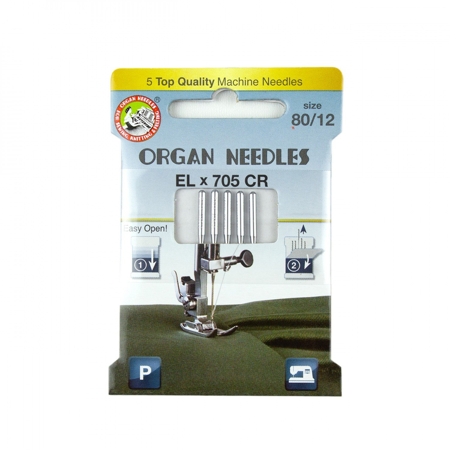 Organ Needles ELx705 Chromium Size 80/12
