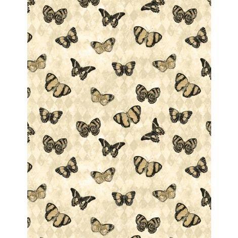 Harlequin Poppies  - Cream Butterflies