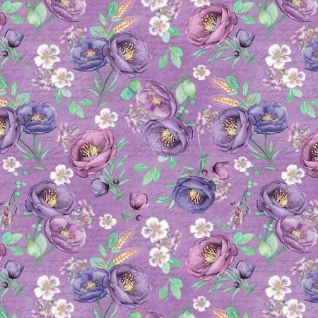 Violette - Purple Tossed Floral