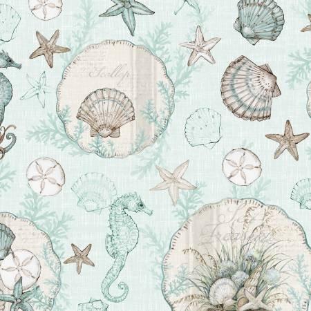 Coastal Wishes - Large Allover - Blue - 39620-424