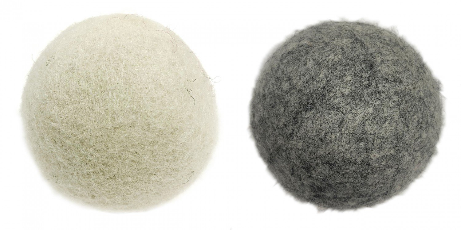 Assorted Dryer Balls White and Gray 6ct