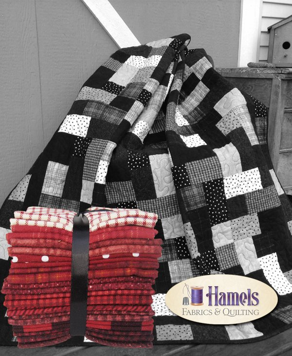 Red Hopscotch Quilt Kit