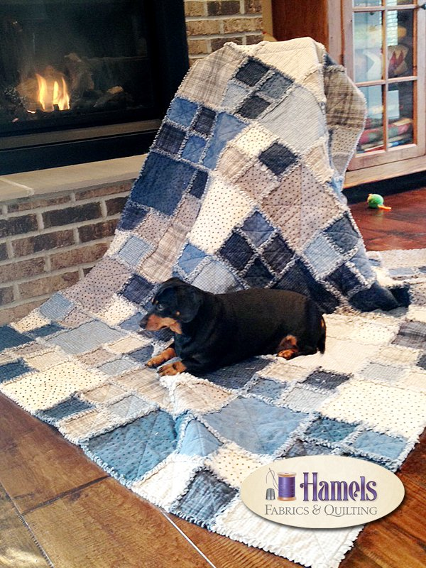 Denim Blue Rag Time Quilt
