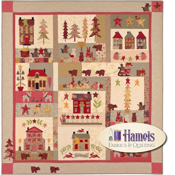 A Woodland Christmas Quilt Kit