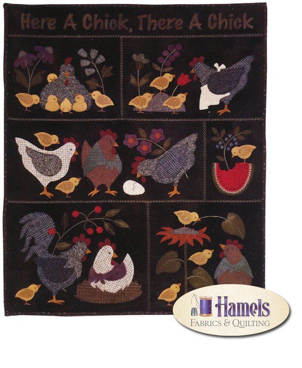 Here a Chick There a Chick (Dark Version) Block of the Month