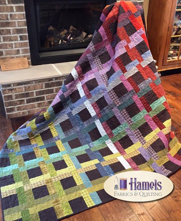 Woven Windows Flannel Quilt Kit