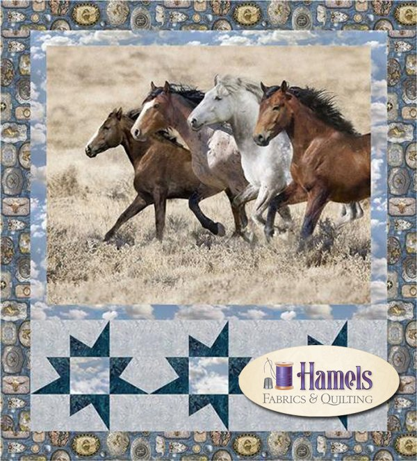 Wide Open Spaces - Running Free Quilt Kit