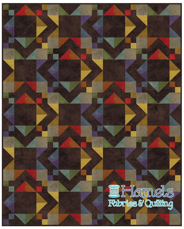 Diamonds In the Rough Flannel Quilt Kit