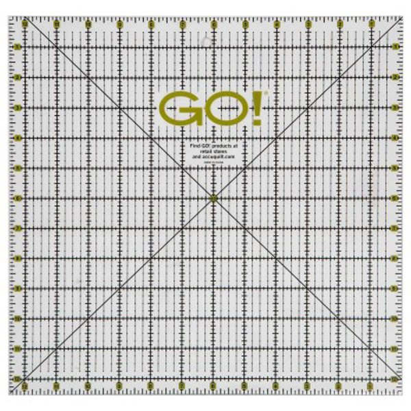 GO! Quilting Ruler-12 1/2 x 12 1/2