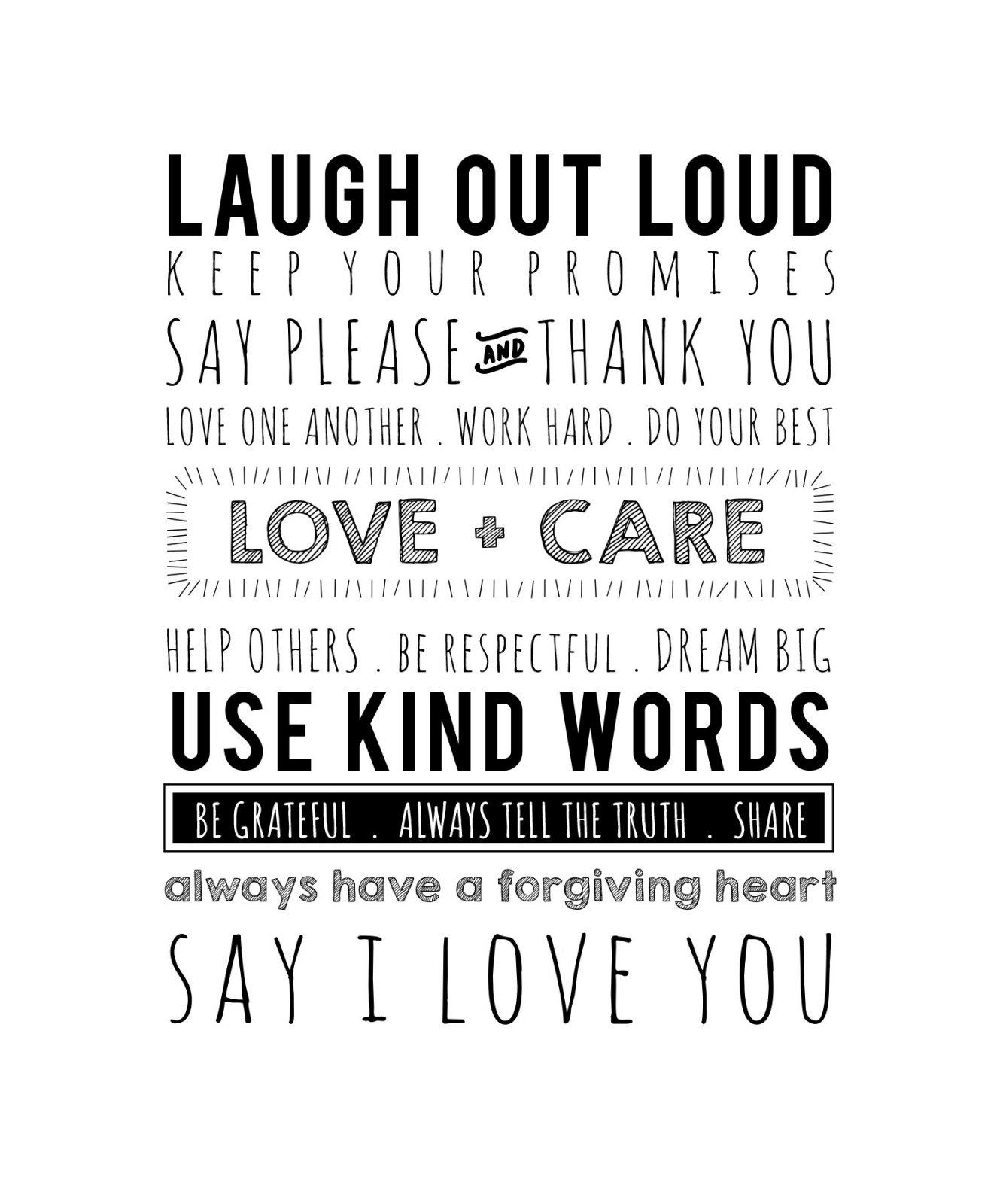 Use Kind Words Printworks Quilt Panel