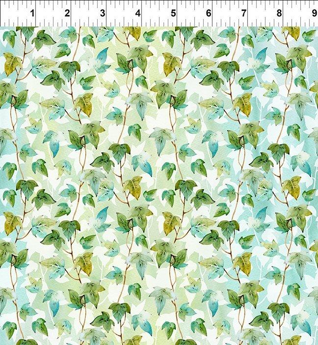 Patricia - Green/Teal Leaf