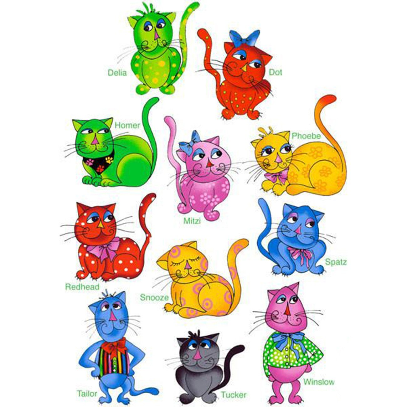 Cool Cats Machine Embroidery Design Collection