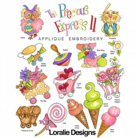 The Precious Express 2 Machine Embroidery Design Collection