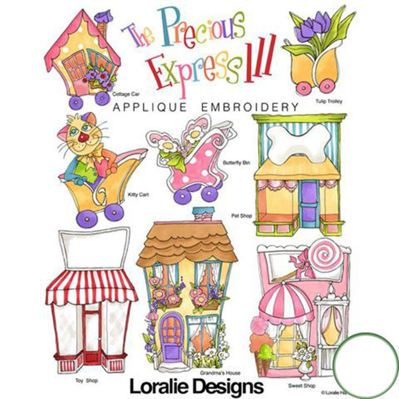 The Precious Express 3 Machine Embroidery Design Collection