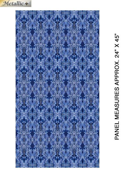 Artful Snowflake - New Wings - Blue/Multi - 6893M-57