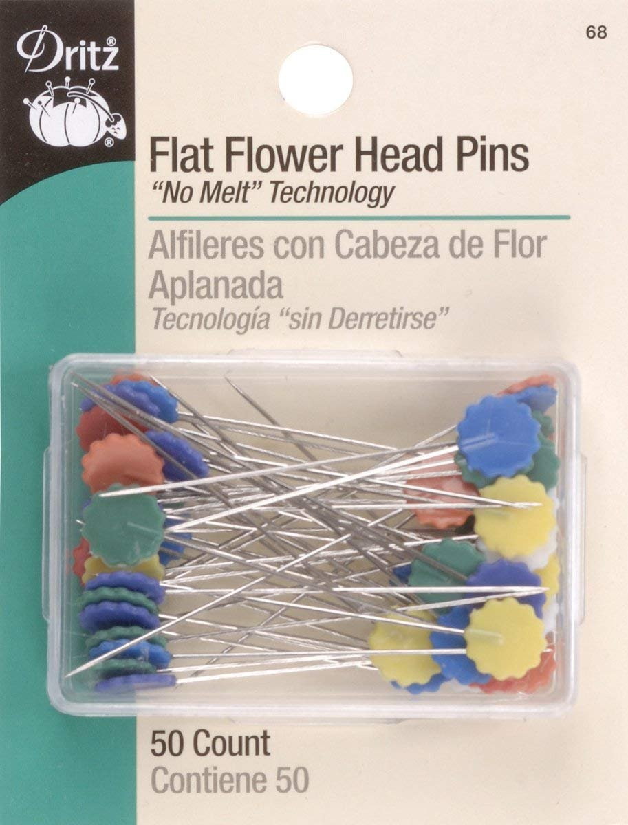 Flower Head Pin 50ct Multi Color - New Colors