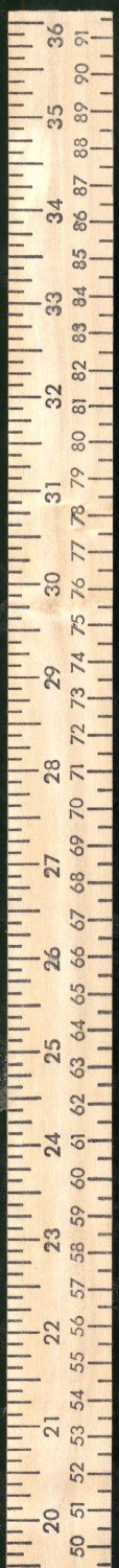 Wood Yardstick with Metrics & Inches 1-1/4in x 36in