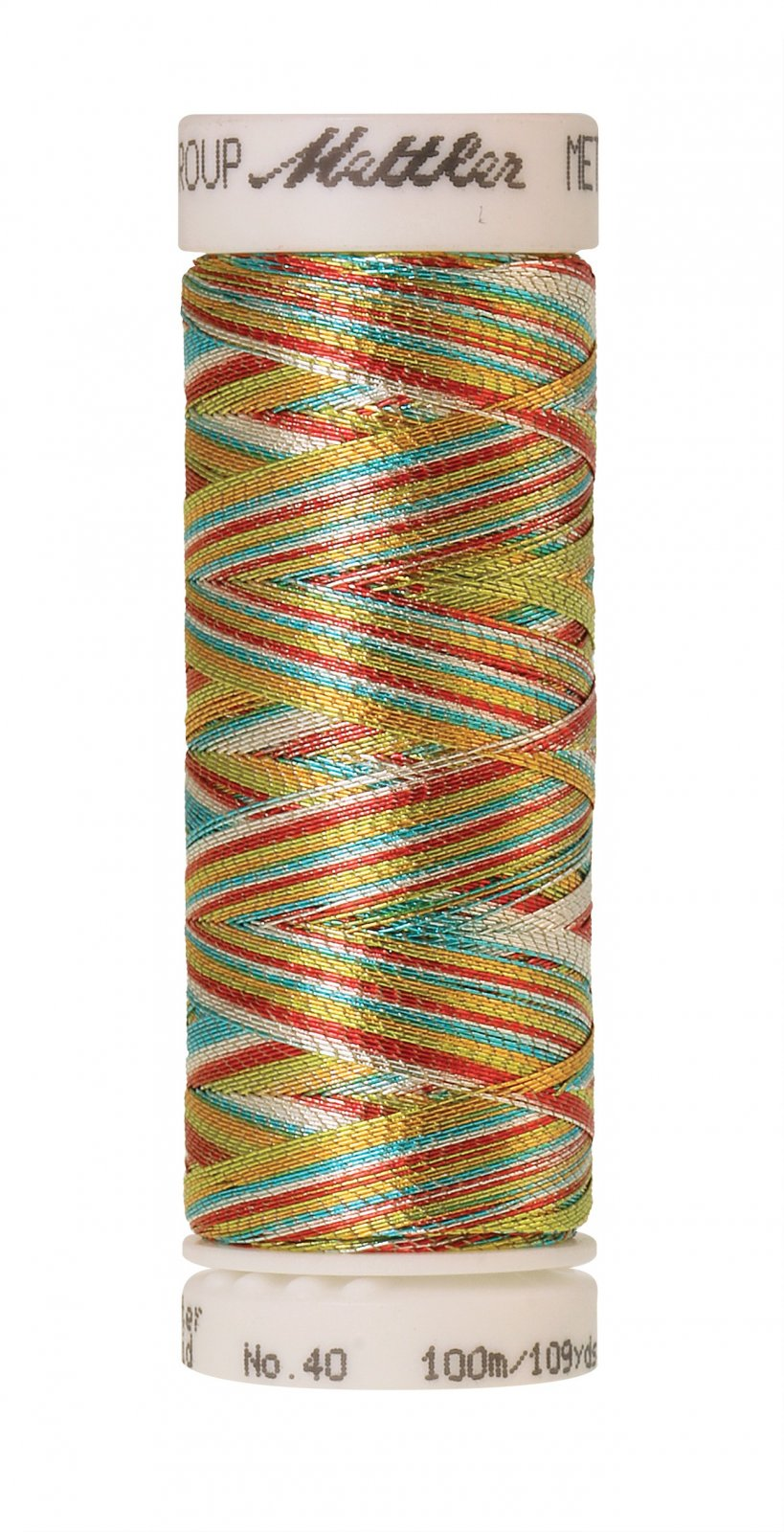 Polyester/Nylon Metallic Embroidery Thread 40wt 300d 100M/110yds Multicolor 2