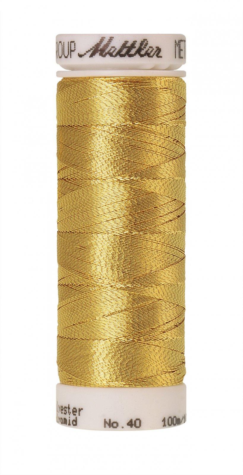 Polyester/Nylon Metallic Embroidery Thread 40wt 300d 100M/110yds Gold