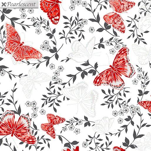 Poppy Promenade - Butterfly - Wht - 7981P-09