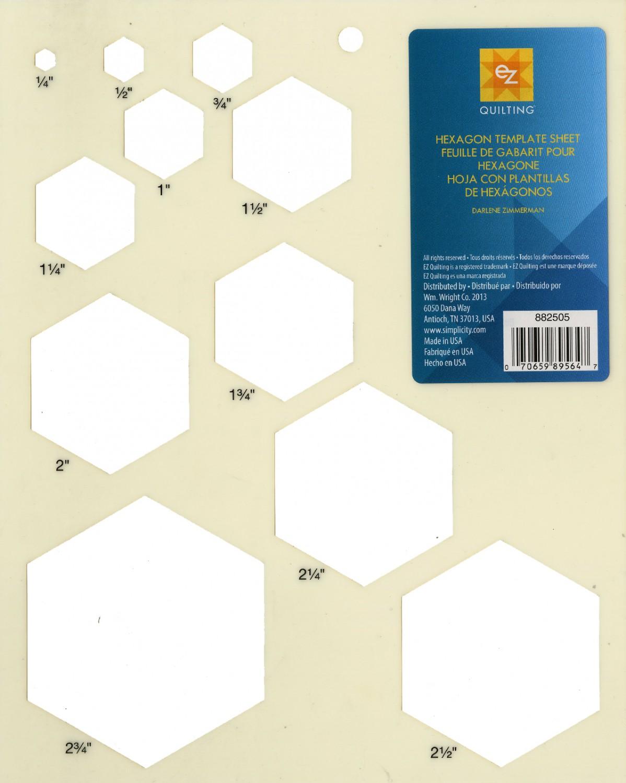 EZ Hexagon Template Sheet