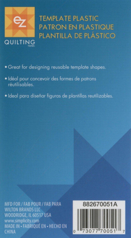 Blank Plastic Template Sheet 12in x 18in