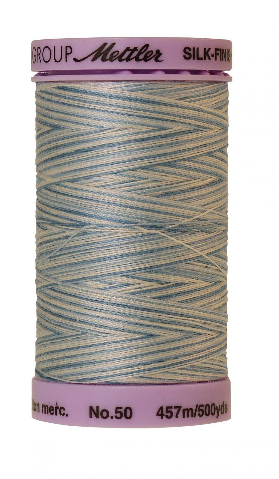 Silk-Finish 50wt Variegated Cotton Thread 457M/500yd Tranquil Blue