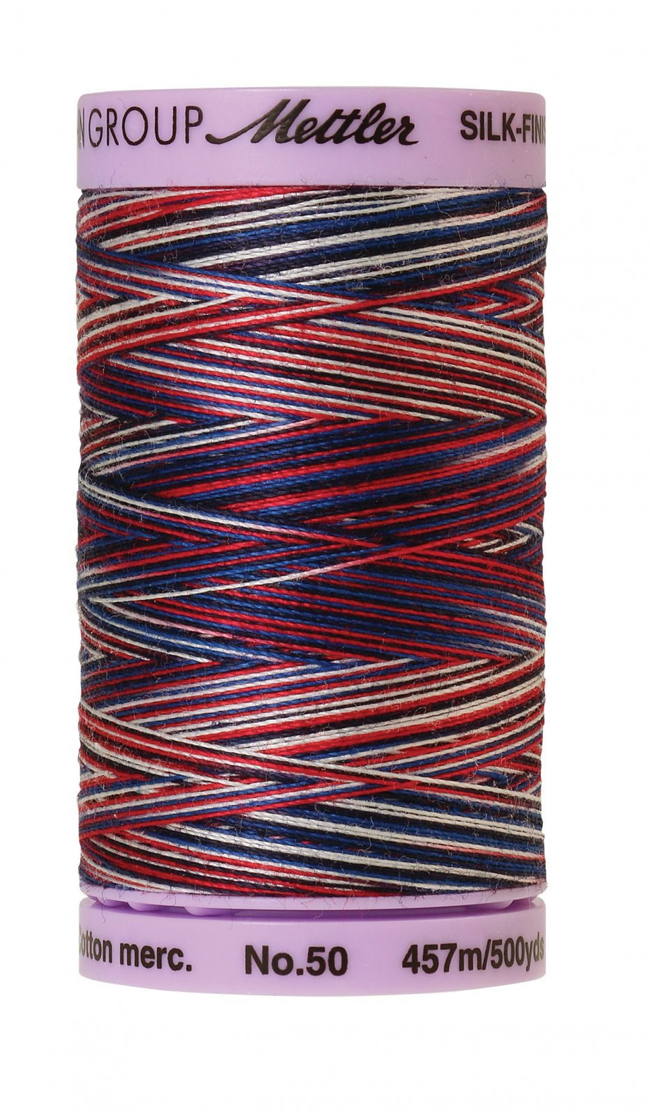Silk-Finish 50wt Variegated Cotton Thread 457M/500yd Patriotic