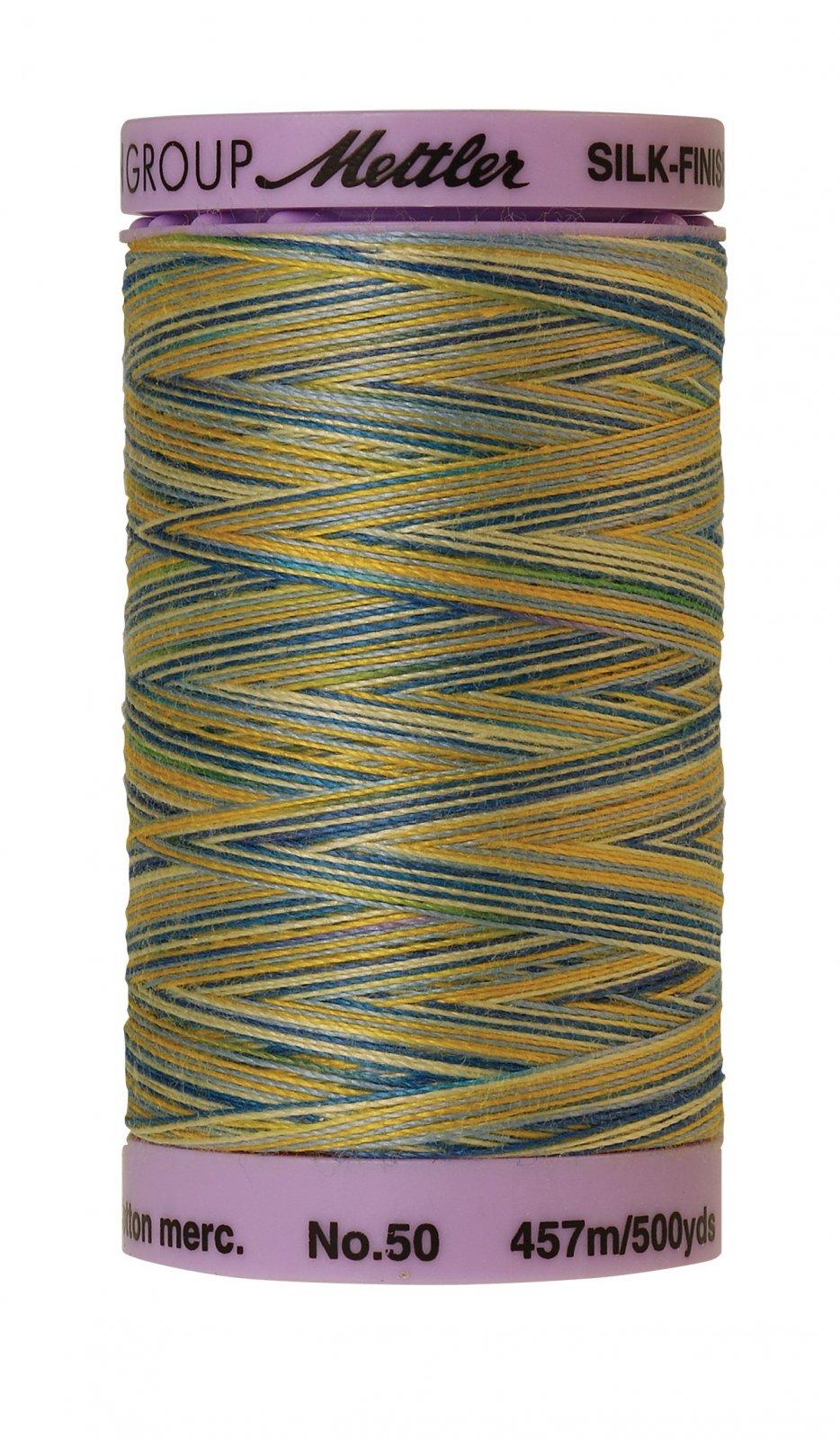 Silk-Finish 50wt Variegated Cotton Thread 457M/500yd China Blue