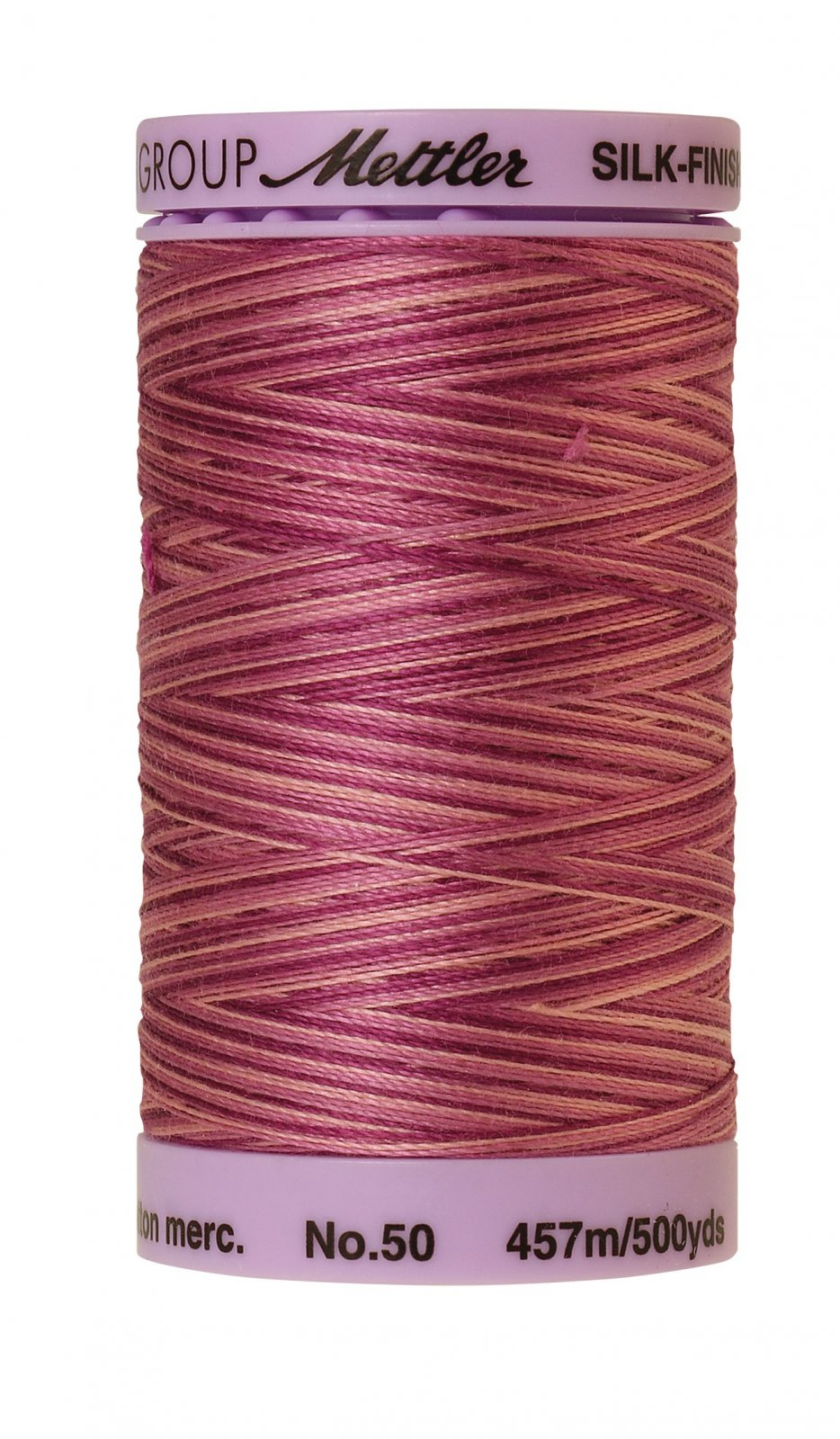Silk-Finish 50wt Variegated Cotton Thread 457M/500yd Pink Flox