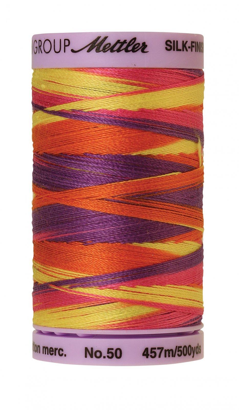 Silk-Finish 50wt Variegated Cotton Thread 457M/500yd Smiley Mix