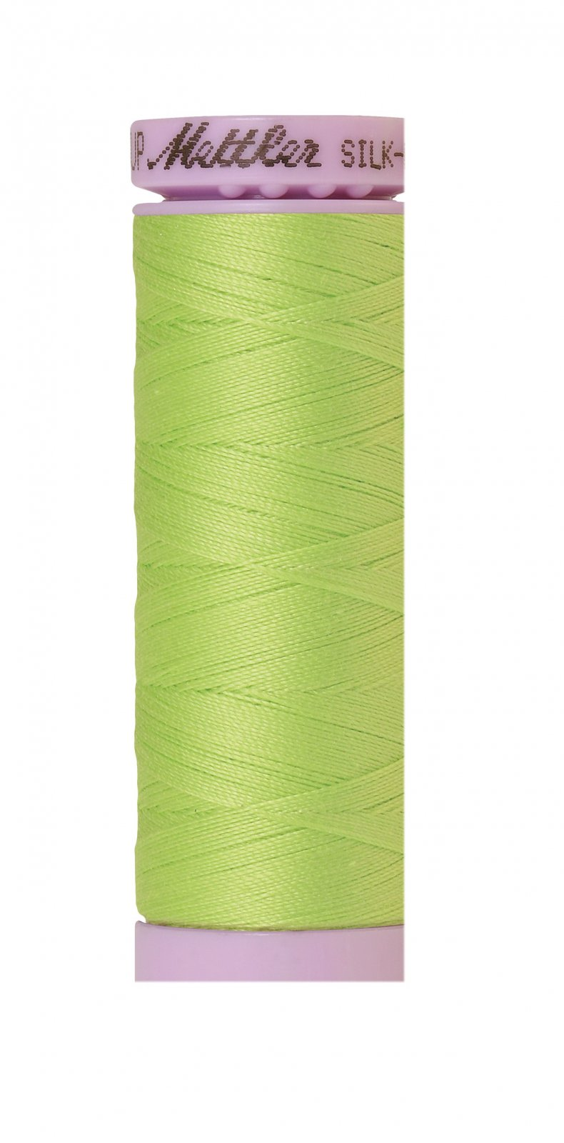 Silk-Finish 50wt Solid Cotton Thread 150M/164yd Bright Lime Green